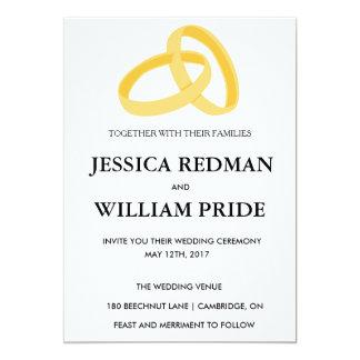 Convite customizável do casamento dos anéis