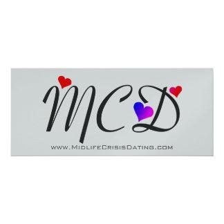 Convite customizável do oficial MCD