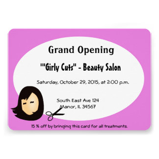 Convite da abertura do cabeleireiro