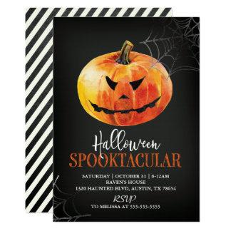 Convite da abóbora do Dia das Bruxas Spooktacular