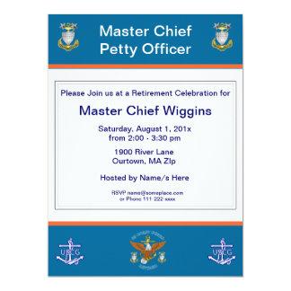 Convite da aposentadoria da âncora de USCG MCPO