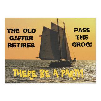 Convite da aposentadoria de um marinheiro