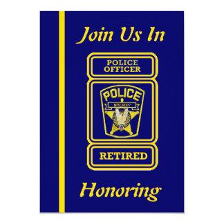 Convite da aposentadoria do agente da polícia