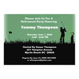 Convite da aposentadoria do golfe