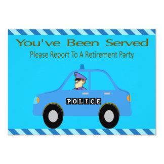Convite da aposentadoria do oficial do carro de