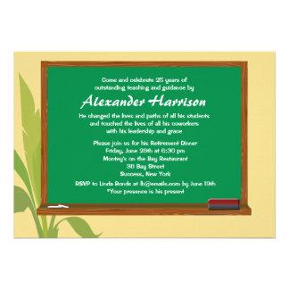 Convite da aposentadoria do professor verde do qua