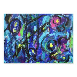 Convite da arte abstracta das notas musicais