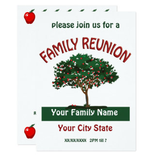 Convite da árvore de Apple da reunião de família