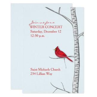 Convite da árvore de vidoeiro do inverno