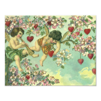 Convite da árvore do coração do Cupido do dia dos
