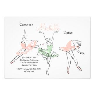 Convite da bailarina de Prima