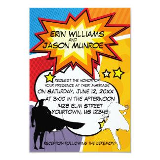 Convite da banda desenhada do super-herói