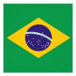 Convite da bandeira de Brasil