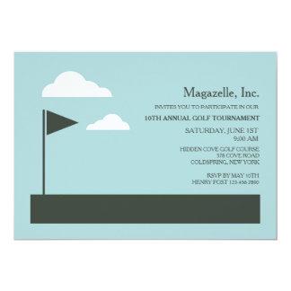 Convite da bandeira do golfe