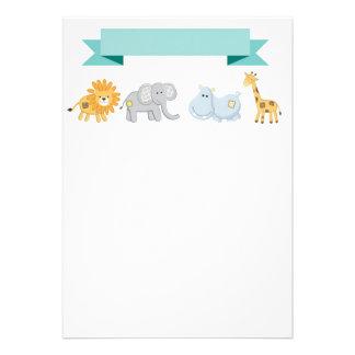 Convite da bandeira dos animais do safari