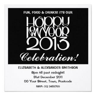 Convite da beira do branco do feliz ano novo 2013