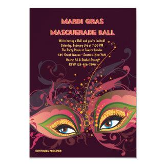 Convite da bola de mascarada do carnaval