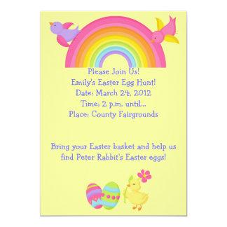 Convite da caça do ovo da páscoa