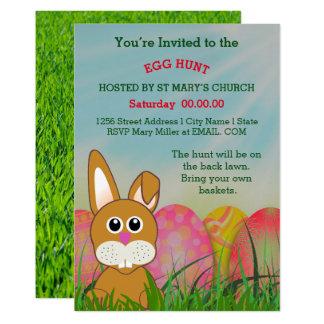 Convite da caça do ovo da páscoa da igreja