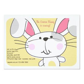 Convite da cara do coelho