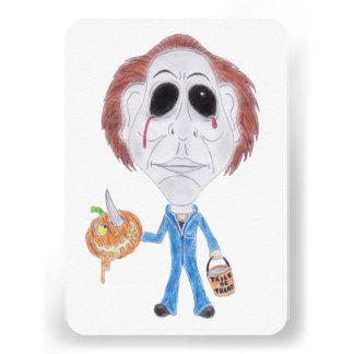 Convite da caricatura do assassino em série do