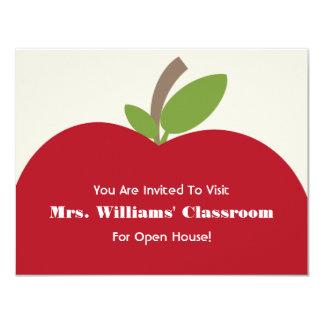 Convite da casa aberta da escola - Apple vermelho
