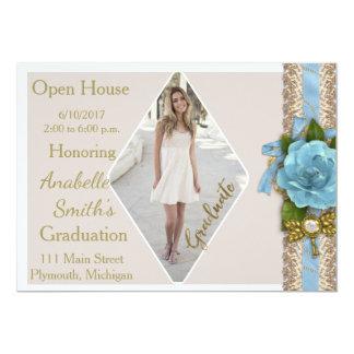 Convite da casa aberta da graduação da foto