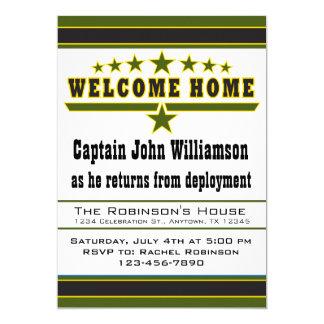 Convite da casa da boa vinda do soldado do