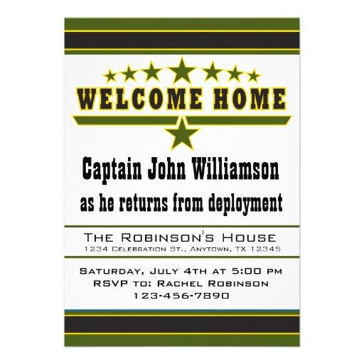 Convite da casa da boa vinda do soldado do exércit