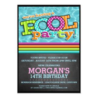 Convite da celebração da festa na piscina