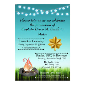 Convite da celebração da promoção