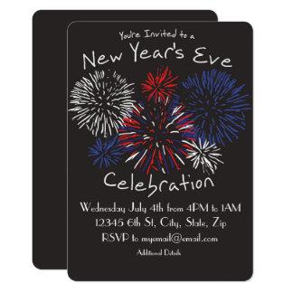 Convite da celebração da véspera de Ano Novo
