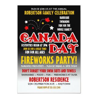 Convite da celebração de família do dia de Canadá