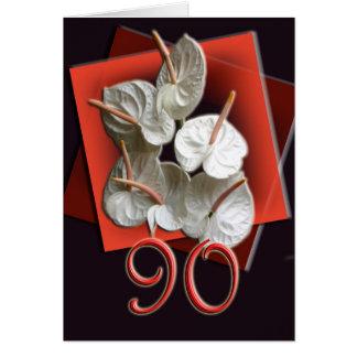 convite da celebração do aniversário do 90
