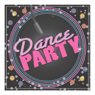 Convite da celebração do dance party