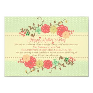 Convite da celebração do dia das mães convite 12.7 x 17.78cm