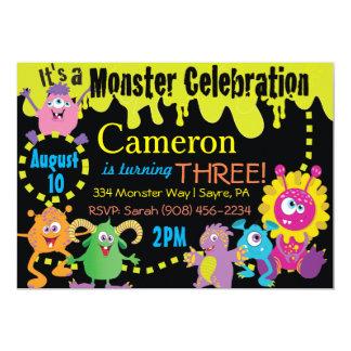 Convite da celebração do monstro