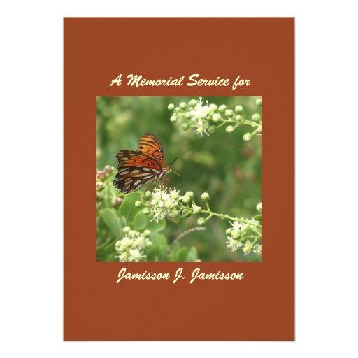 Convite da cerimonia comemorativa, borboleta alara