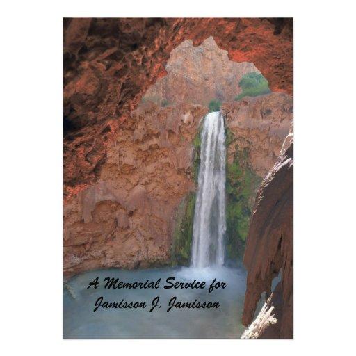 Convite da cerimonia comemorativa, cachoeira escon