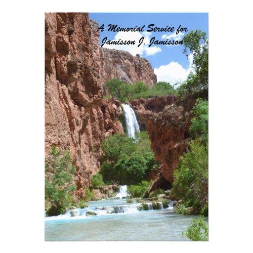 Convite da cerimonia comemorativa, cachoeira, penh
