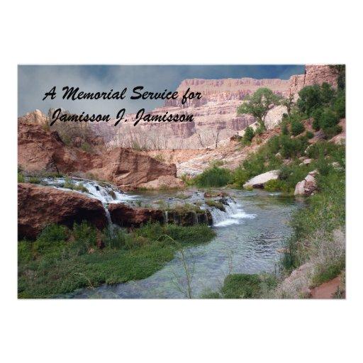 Convite da cerimonia comemorativa, cachoeiras Unsp
