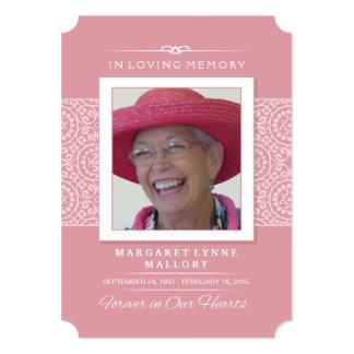 Convite da cerimonia comemorativa - cor-de-rosa