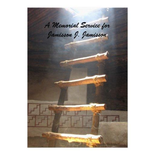 Convite da cerimonia comemorativa, escada de Kiva
