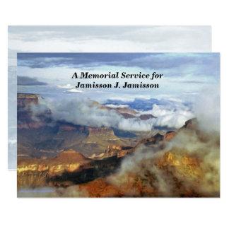 Convite da cerimonia comemorativa, nuvens da