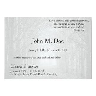 Convite da cerimonia comemorativa ou do funeral
