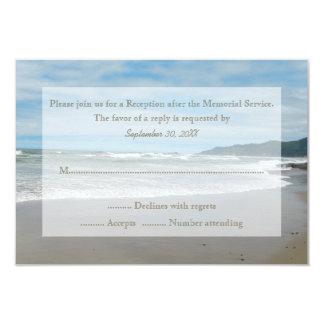 Convite da cerimonia comemorativa RSVP