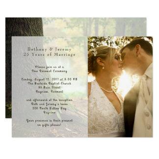 Convite da cerimónia do aniversário de casamento