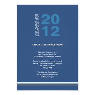 Convite da classe da graduação da listra do convite 12.7 x 17.78cm