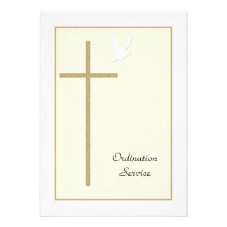 Convite da classificação da igreja -- Cruz pomba