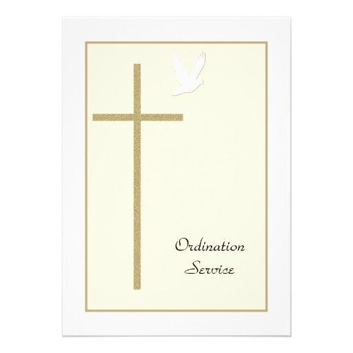 Convite da classificação da igreja -- Cruz & pomba